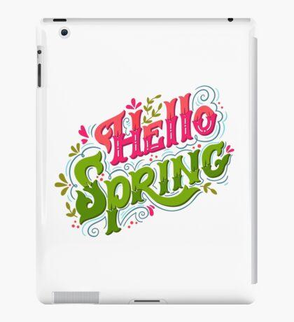 Hello spring iPad Case/Skin