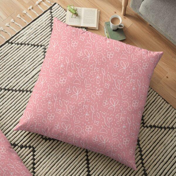 Blumenkinder rosa weiß Bodenkissen