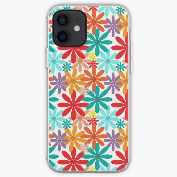 Colorful Floral Pattern iPhone Soft Case