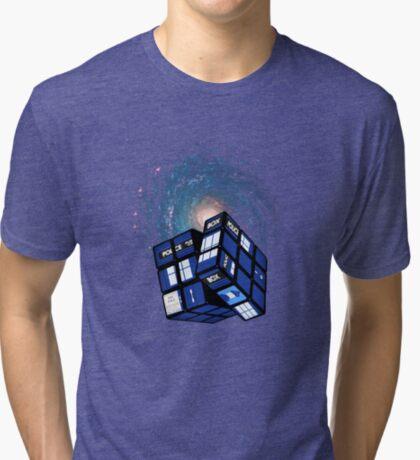 TARDIS CUBE Tri-blend T-Shirt