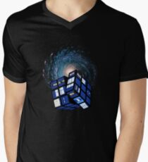 TARDIS CUBE Mens V-Neck T-Shirt