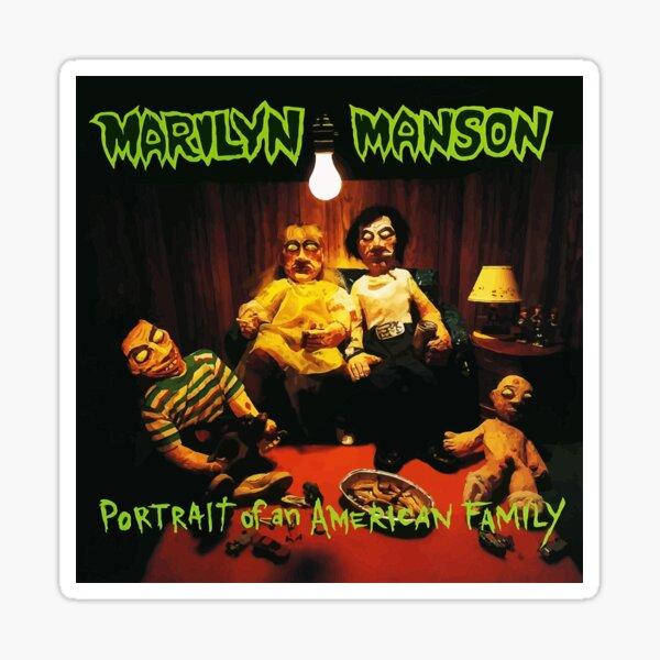 Marilyn Manson Portrait Of An American Family album cover 820 Sticker