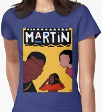Martin (Yellow) Womens Fitted T-Shirt