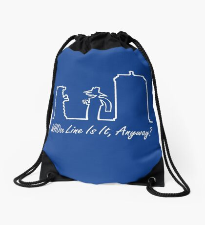 WHOse Line Is It, Anyway? Drawstring Bag