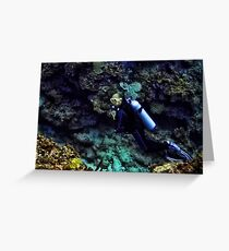 SCUBA DIVING - A WHOLE NEW WORLD UNDERWATER - VARIOUS APPAREL Greeting Card