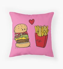 You're the Burger to my Fries Throw Pillow