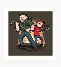 Post-Apocalyptic Dynamic Duo! Art Print