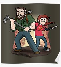 Post-Apocalyptic Dynamic Duo! Poster