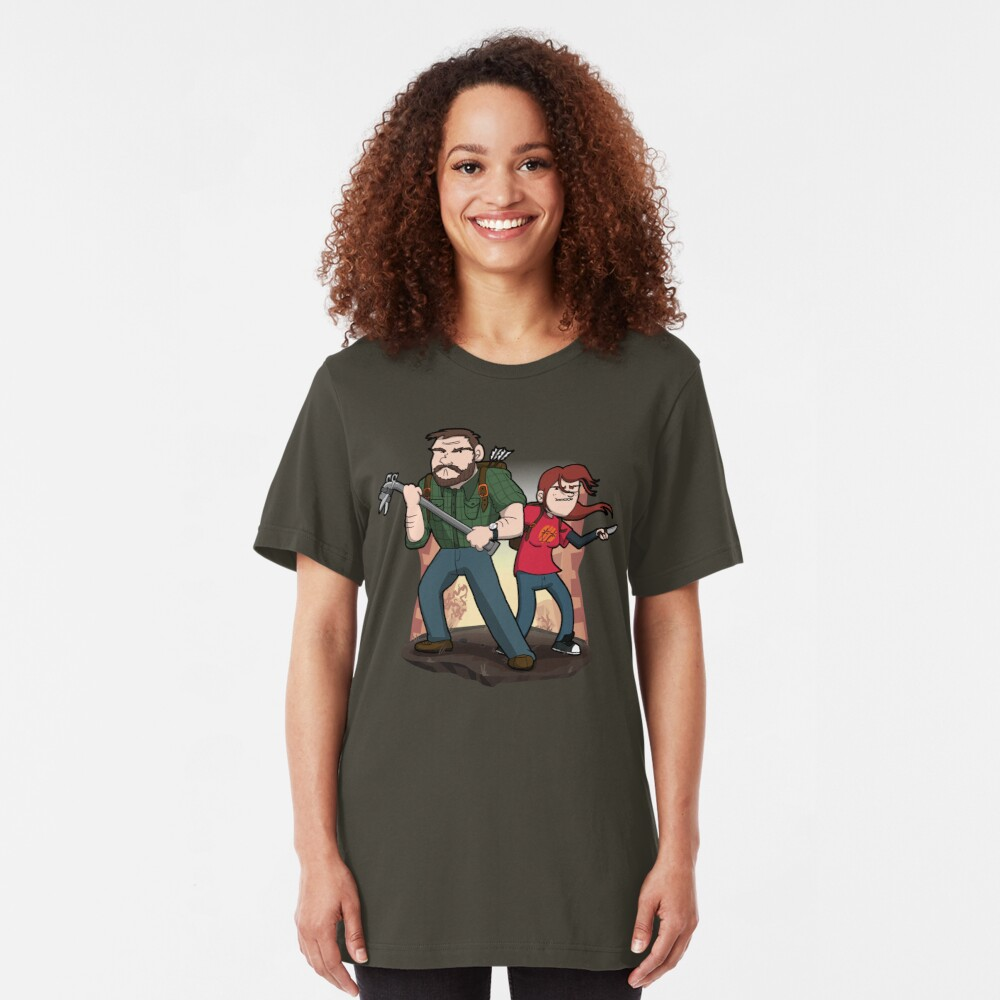 Post-Apocalyptic Dynamic Duo! Slim Fit T-Shirt