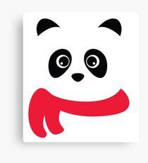 Cute panda with scarf Canvas Print