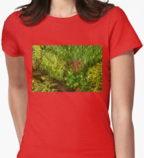 Impressions of Gardens - a Miniature Spring Creek with a Red Primrose  T-Shirt