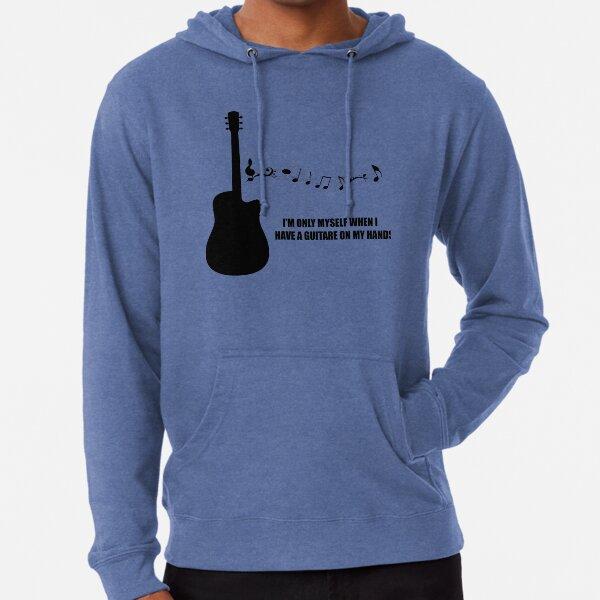 Guitare Peace Full Zip Sweat à capuche imprimé dans le dos