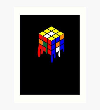 Dripping Cube Art Print