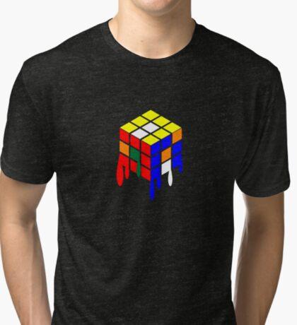 Dripping Cube Tri-blend T-Shirt