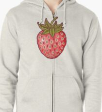 strawberry fields Zipped Hoodie