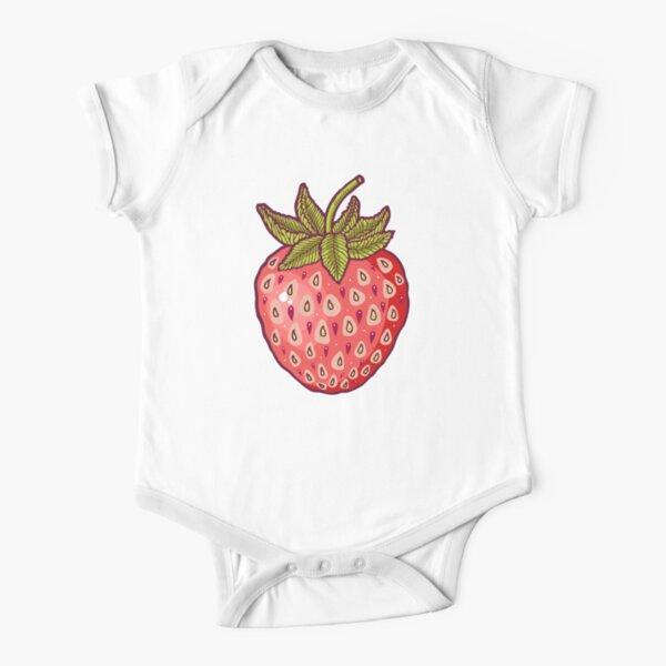 strawberry fields Short Sleeve Baby One-Piece