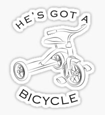 He's Got A Bicycle! Sticker