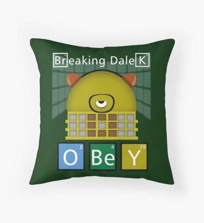 Breaking Dalek Throw Pillow
