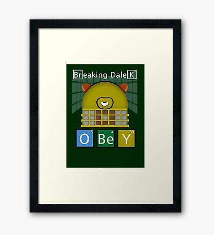 Breaking Dalek Framed Print