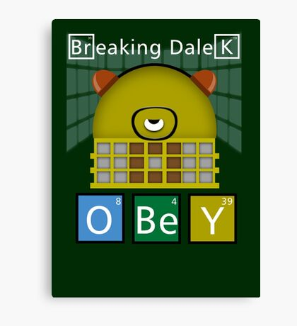 Breaking Dalek Canvas Print