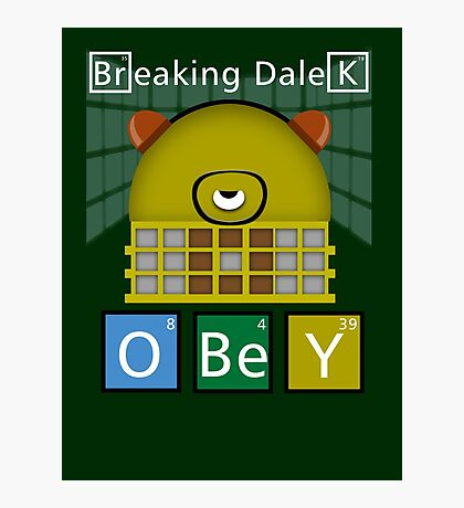 Breaking Dalek Photographic Print