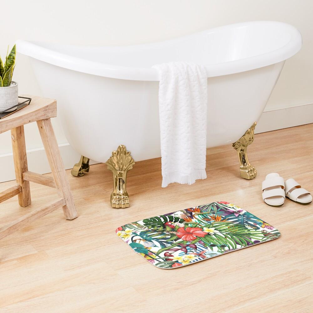 Mysterious Tropical Bath Mat