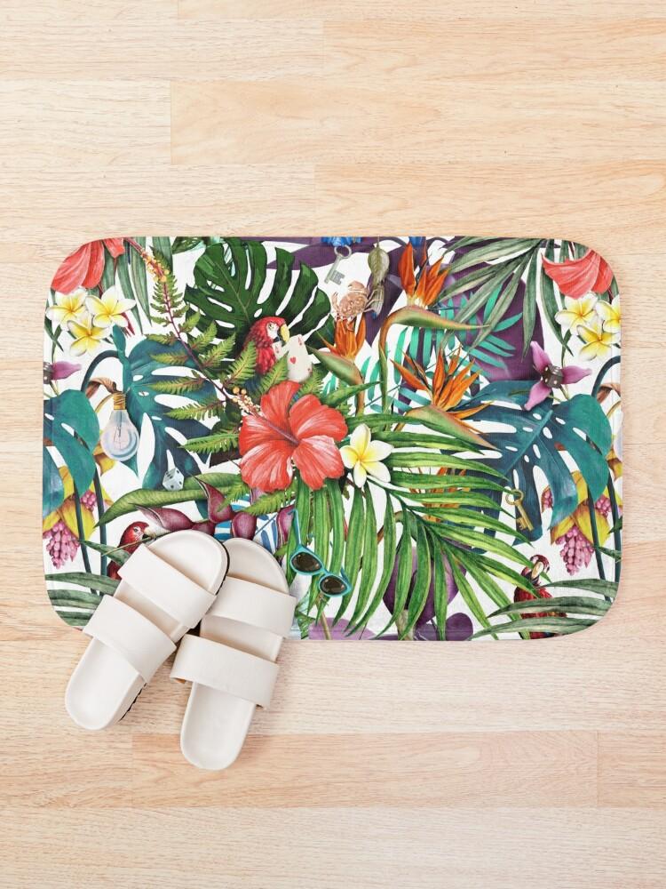 Alternate view of Mysterious Tropical Bath Mat