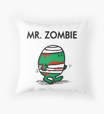 MR. ZOMBIE Throw Pillow