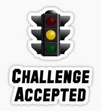 Challenge Accepted Light Sticker
