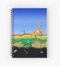 Prehistoric Pixels: Triassic Spiral Notebook