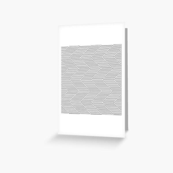 The Serpentine Illusion  Greeting Card