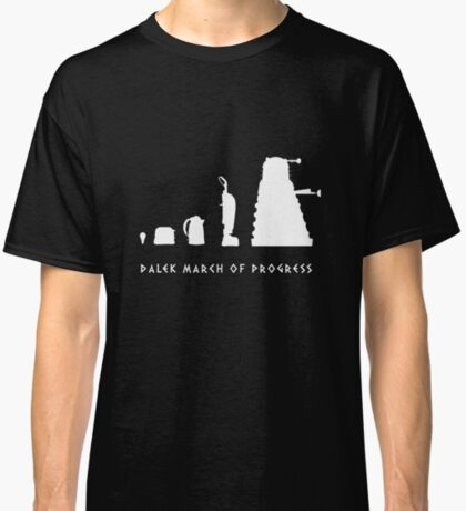 Dalek March of Progress White Classic T-Shirt