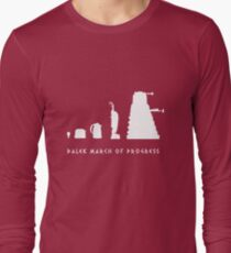 Dalek March of Progress White Long Sleeve T-Shirt