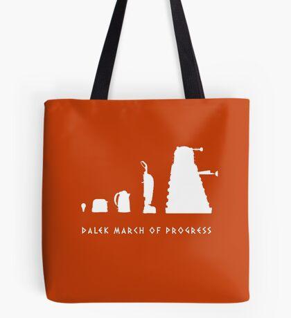Dalek March of Progress White Tote Bag