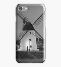 Lytham Windmill In B&W iPhone Case/Skin