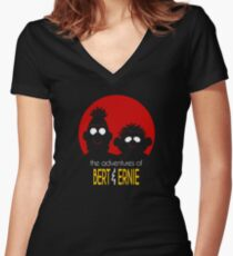 The adventures of bert & ernie Women's Fitted V-Neck T-Shirt