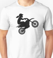 Motocross girl woman Unisex T-Shirt