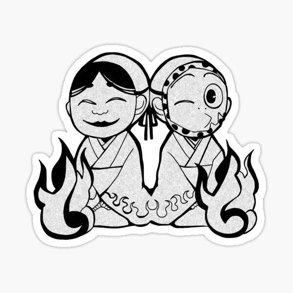 Kamisama kiss onikiri and kotetsu Sticker