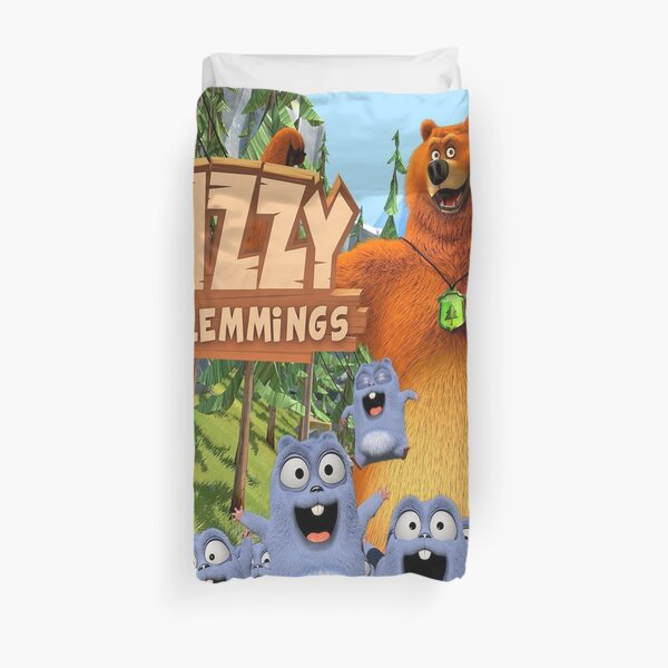 Grizzy and the Lemmings Duvet Cover