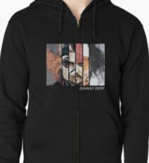 Johnny Depp Characters Zipped Hoodie