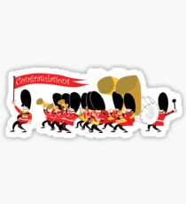 Play that funky music soldier boys! Sticker
