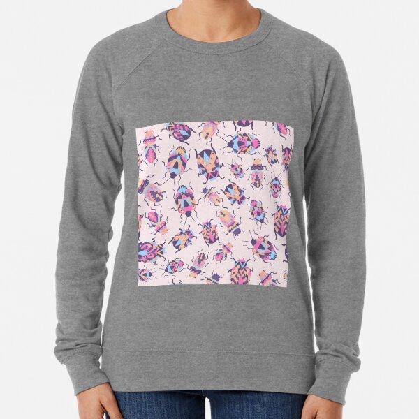 Pattern with crawling bugs Lightweight Sweatshirt