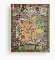 American Expeditionary Force World War I Map Metal Print