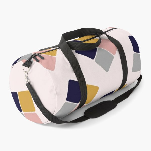 Small squares in blue, pink, grey and orche Duffle Bag
