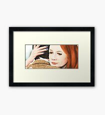 Amy Pond and the 11th Doctor Framed Print
