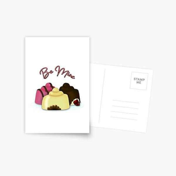 Be Mine Valentine's Day Candy Postcard
