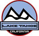 LAKE TAHOE CALIFORNIA Mountain Skiing Art by MyHandmadeSigns