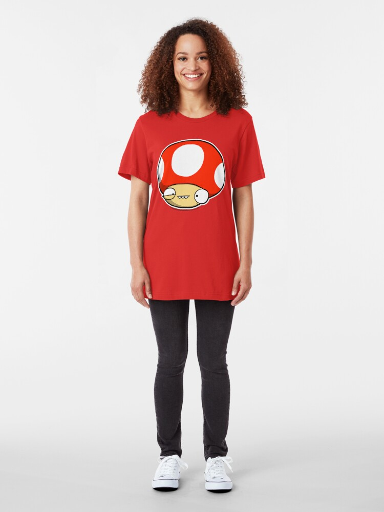 Alternate view of Twitchy Mushroom Slim Fit T-Shirt