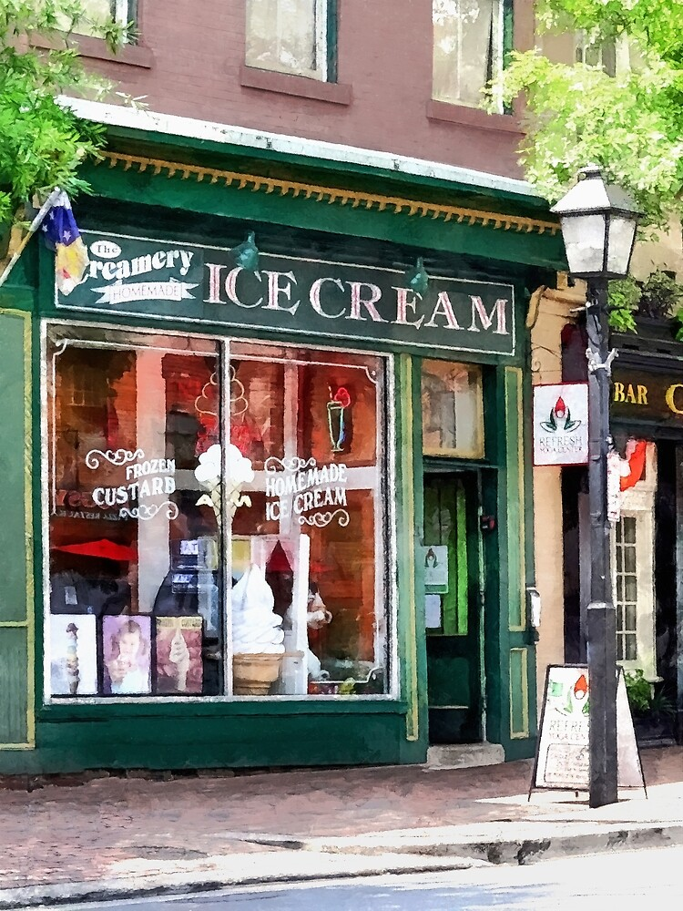 Ice Cream Parlor Alexandria VA by Susan Savad