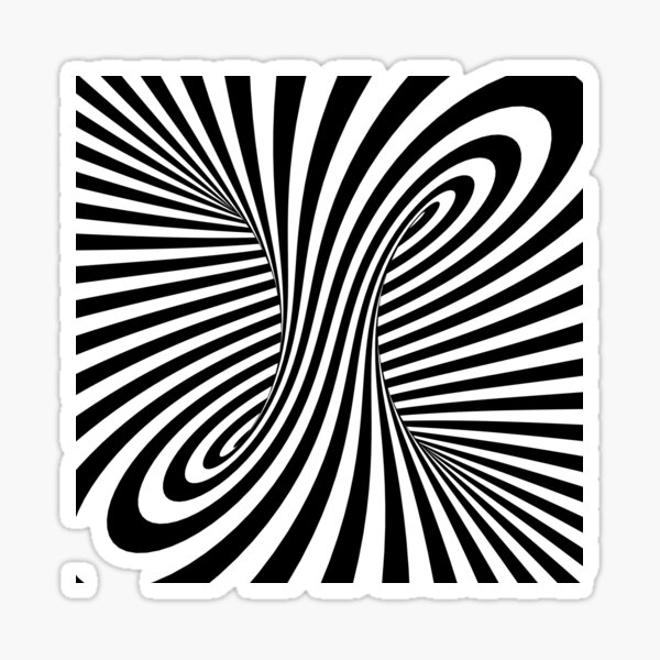 Abstract Black and White Torus Sticker